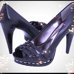 SEXY Calvin Klein Kamrie Vachetta Peep Toes